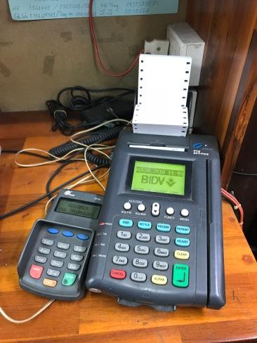 Old School credit card machine
