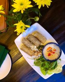 Pork & shrimp spring rolls